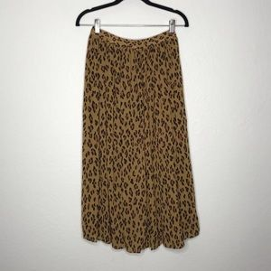 By Together Leopard Print Midi Circle Skirt